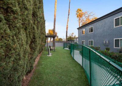Pet-friendly green yard