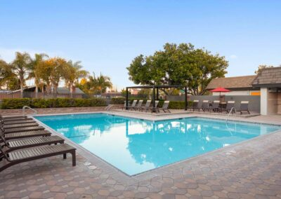 Resort style pools at Park Plaza Apartments