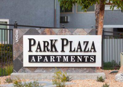 Park Plaza Apartments Sign Monument