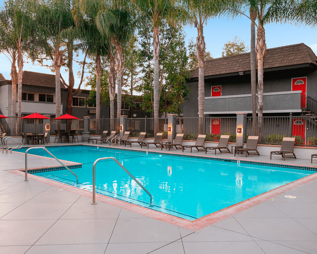 Relaxing Pool at Park Plaza Apartments